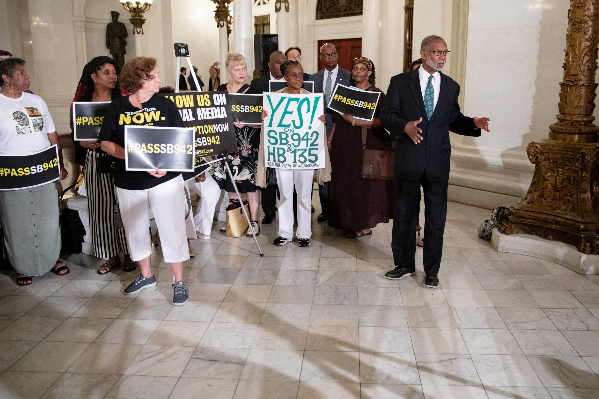 June 25, 2019: Senator Art Haywood joins colleagues in calling for parole reform.