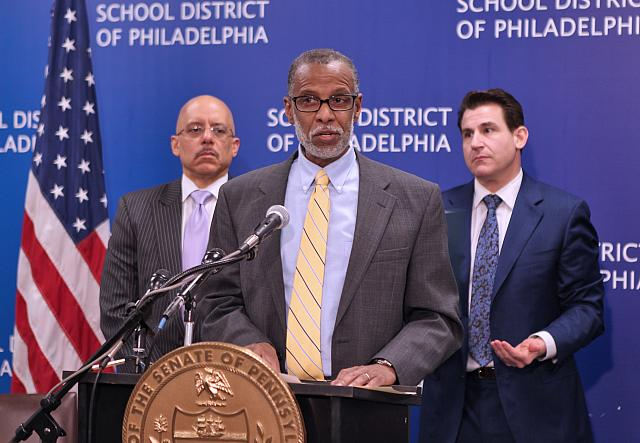February 5, 2015: Speaking at the Philadelphia School District Building about my Shale for Our Future proposal