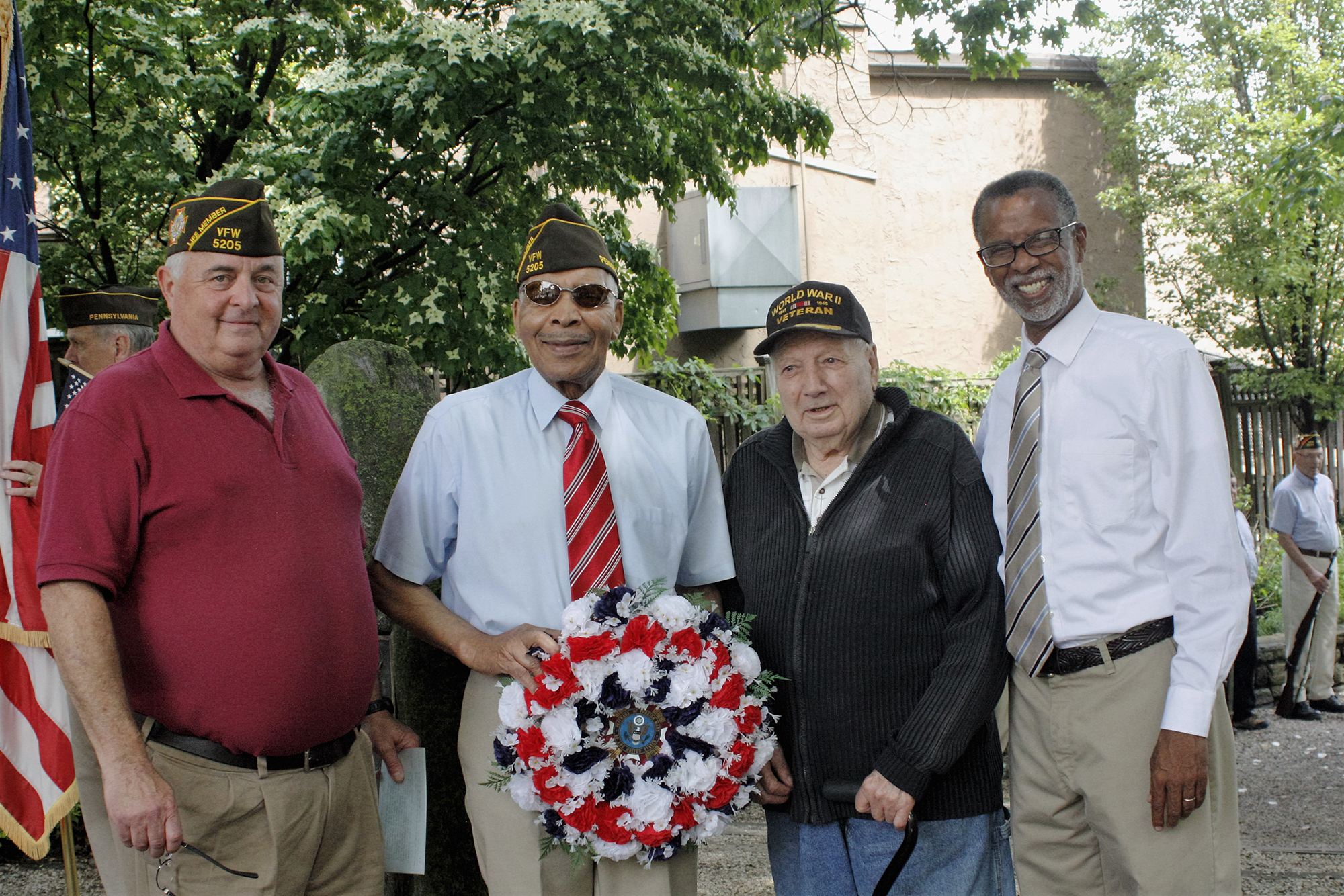 May 30, 2016: Senator Haywood takes part in Memorial Day commemoration event with VFW 5205 in Chesnut Hill (Photo: Sue Ann Rybak)