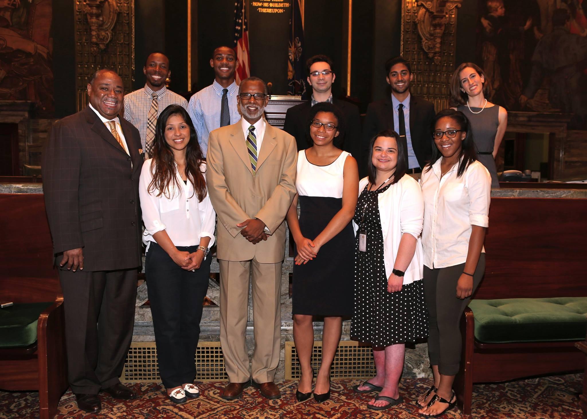 August 11, 2015: District Office Interns Visited Harrisburg