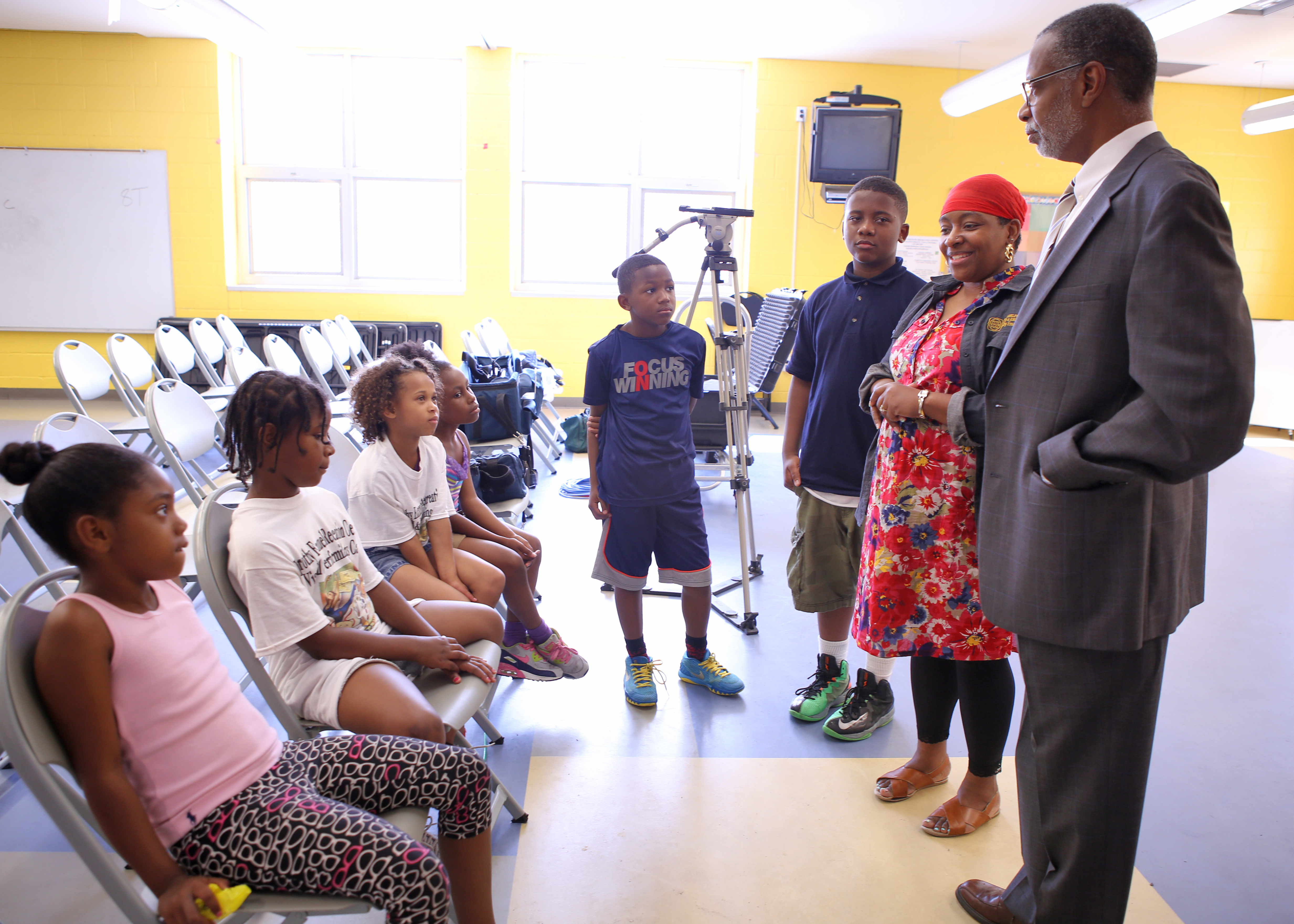 July 7, 2015: Speaking with Reading Revolution Campers at Dorothy Emanuel Recreation Center