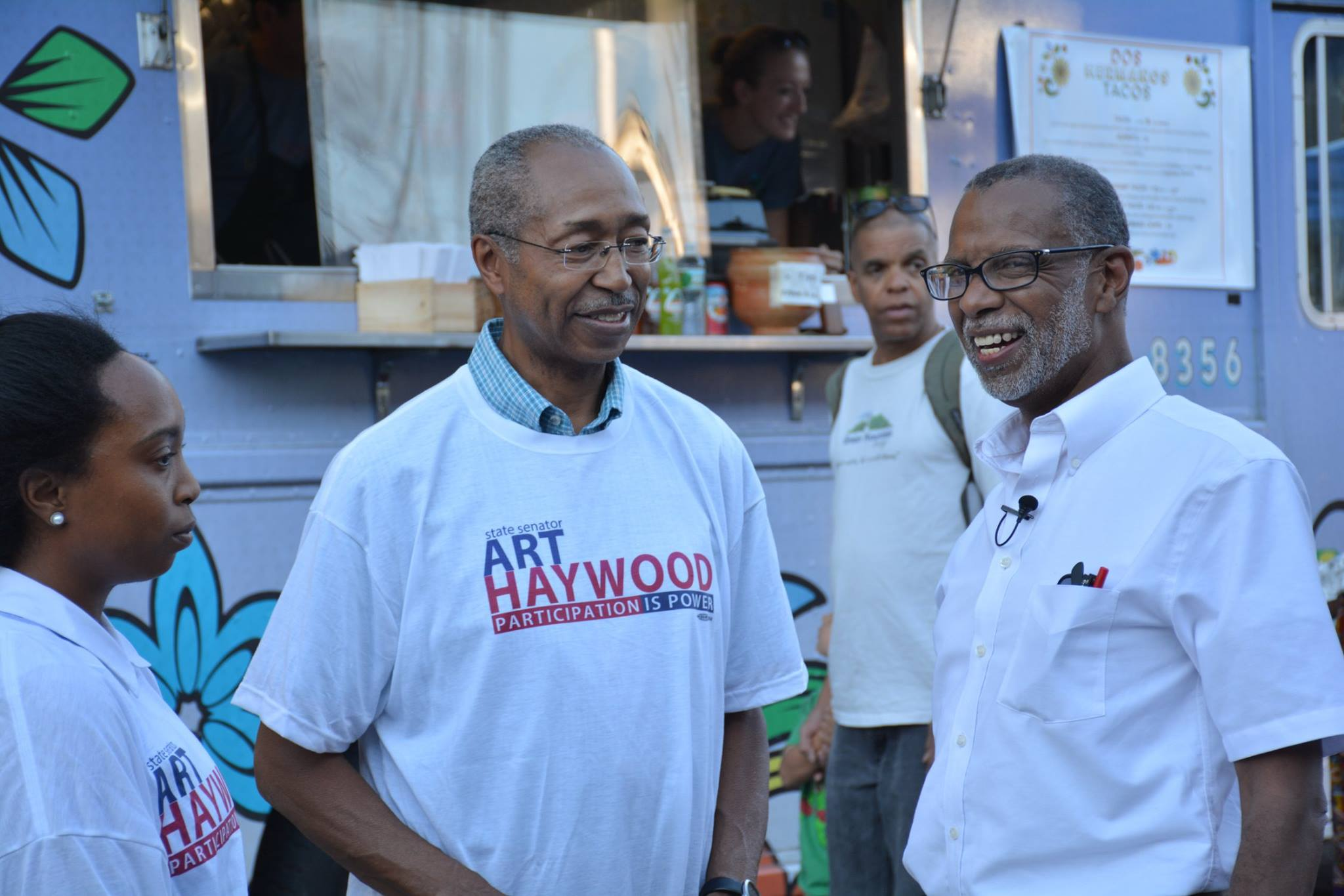 September 17, 2015: Speaking with Volunteers at the Mt. Airy Street Fare