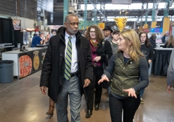 January 7, 2019: Senator Art Haywood attends the 2019 Pa. State Farm Show.