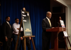 April 9, 2019: State Senator Art Haywood and State Senator Sharif Street joined Villanova University's Film Department, John Pace, and Tyrone Werts for a press conference and screening of The Mayor of Graterford.