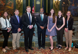 June 25, 2019: Senator Haywood's summer interns spend the day on the PA Senate Floor .