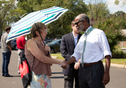 September 4, 2019: State Sen. Art Haywood  led a Clean Energy rally in Abington Township to propose a clean-energy bill that would slash carbon emissions from the electric power sector at least 90 percent by 2040.