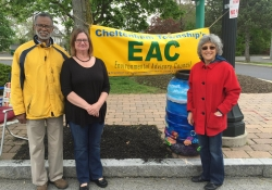 April 30, 2016: Senator Haywood celebrates Earth Day with the Cheltenham Environmental Advisory Council at the Glenside Arts Festival.