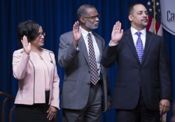 January 3, 2017: Sen. Art Haywood is sworn into leadership for Pennsylvania Legislative Black Caucus.