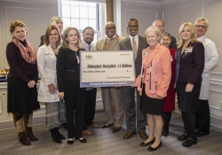 Haywood, Dean, Abington-Jefferson Health Officials to Hold $1 Million Check Presentation Ceremony :: December 8, 2016