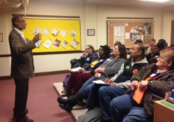 February 9, 2015: Teaching a Participation is Power Workshop at the Raise the Wage PA Coalition Kickoff Event in Harrisburg