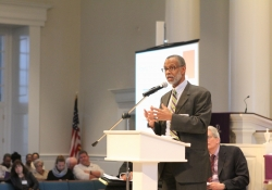 February 21, 2016: Sen. Haywood speaks at a POWER Metro kickoff event at Trinity Lutheran Church in Lansdale