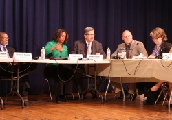 February 11, 2016: Sen. Haywood joins Sen. Hughes for a hearing on crumbling school infrastructure at Edmonds Elementary School.