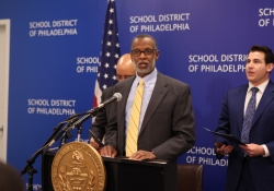 February 5, 2015: Speaking at the School District of Philadelphia building about my Shale for Our Future proposal