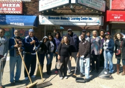 April 11, 2015: My staff and I participated in Rep. Dwight Evans' West Oak Lane clean-up during Philly Spring Clean-up Day.