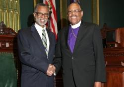 November 17, 2015: Bishop Morris Gives Prayer before the Senate