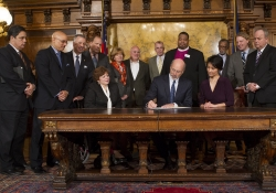 March 7, 2016: Governor Wolf signs an executive order raising the minimum wage for state employees and contractors to $10.15/hour.