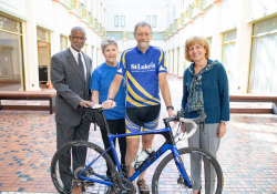 September 23, 2019: Senator Art Haywood welcomes Dr. Ric Baxter to Harrisburg. Dr. Ric Baxter, a national leader in Hospice and Palliative Care, is embarking on a bicycle tour the length of Pennsylvania to raise awareness of end-of-life care.
