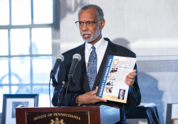 December 2, 2019 – Senator Art Haywood (D-Montgomery/Philadelphia) joined local elected officials for a dual event focused on economic justice: Senator Haywood announced the People's Budget and the completion of the Poverty Report at the Johnson House Historic Site in Germantown.