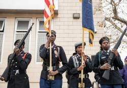 November 9, 2018: In honor of Veterans Day, Senator Haywood held a ceremony to raise the flag at Lonnie Young Recreation Center and to pay tribute to our veterans.