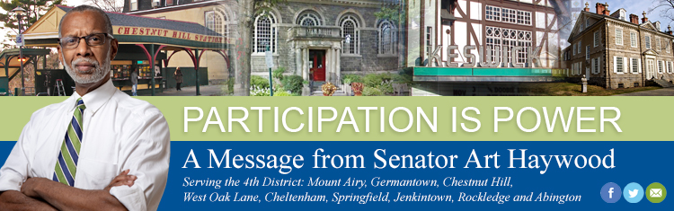 Participation is Power - Senator Art Haywood's Enews