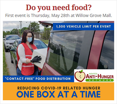 Food Distribution Tomorrow at Willow Grove Mall