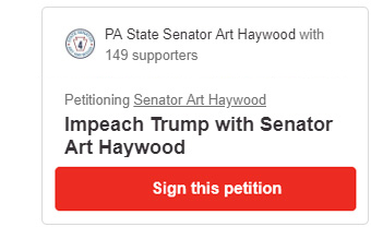 Impeach Trump with Senator Art Haywood