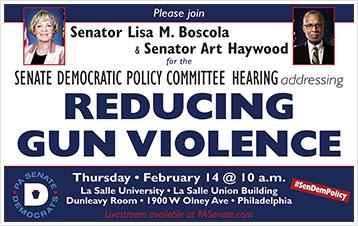 Policy Hearing Addressing Reducing Gun Violence
