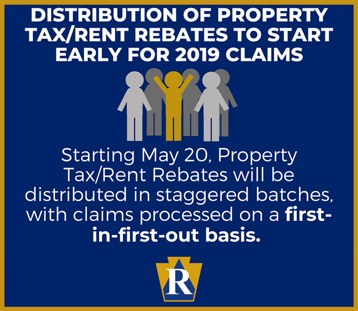 Distribution of Property Tax/Rent Rebates to start early for 2019 claims