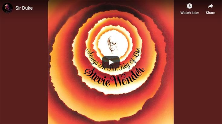 Sir Duke, by Stevie Wonder