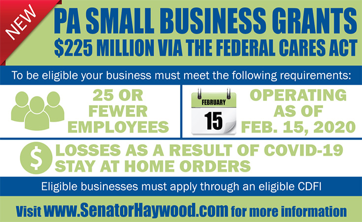 Small Business Grants Update