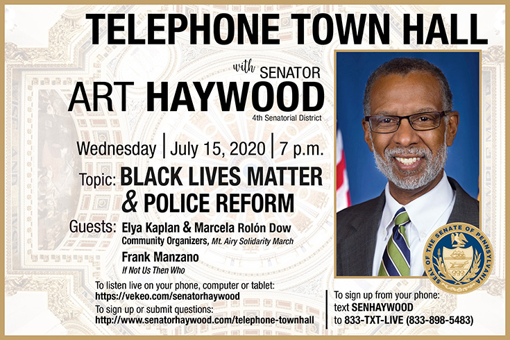 Telephone Town Hall on Police Reform and Black Lives Matter