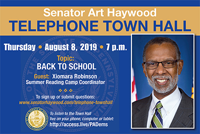 Telephone Town Hall - August 8, 2019 - Particpate Here!