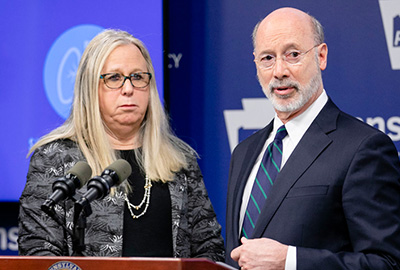 Gov. Wolf and Secretary Rachel Levine