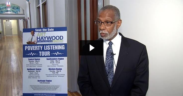 Senator Art Haywood Hosts Poverty Tour