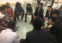 June 16, 2017: Senator Art Haywood hosts a youth forum.