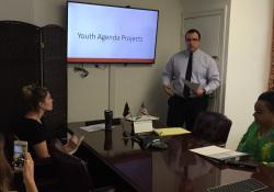 August 11, 2017: Joe Mullen presents Youth Agenda Report.