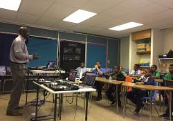 May 17, 2017: Mentoring Day at Prince Hall Elementary School.