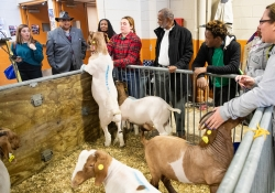 January 7, 2019: Senator Art Haywood attends the 2019 Pa. State Farm Show.