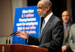 March 27, 2019:  State Sen. Art Haywood today applauded the findings of Pennsylvania Treasurer Joe Torsella's Private Sector Retirement Security Task Force to establish a state-managed private retirement savings plan.
