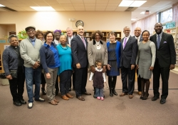 November 15, 2018: Senator Art Haywood (D-Montgomery/Philadelphia) joined Mayor Jim Kenney, State Representative Isabella Fitzgerald, State Representative Chris Rabb, Director of the Governor's Southeast Regional Office Nedia Ralston, District Representative for Congressman Dwight Evans, Numa St.Louis, and Free Library President Siobhan A. Reardon for a check presentation of $1 million at the West Oak Lane Library in Philadelphia.
