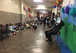 March 2, 2018: Senator Art Haywood visits four elementary schools in Celebration of Read Across America Day.