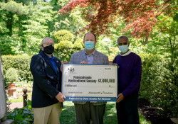 May 6, 2021: State Senator Art Haywood (D-Montgomery/Philadelphia) and State Representative Ben Sanchez (D-Montgomery) presented the Pennsylvania Horticultural Society with a $1 million check to renovate Meadowbrook Farm in Montgomery County.