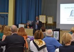 April 21, 2016: Senator Haywood speaks at the Chestnut Hill Community Association Annual Meeting.