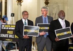 June 25, 2019: Senator Art Haywood joins colleagues in calling for parole reform.
