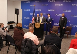 February 5, 2015: Joined by Senator Hughes and Senator Farnese to discuss my Shale for Our Future Proposal