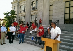 August 7, 2015: Joining Communications Workers of America to Demand Good Corporate Citizenship