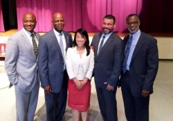 May 28, 2015: Attending Education Matters Forum at Martin Luther King High School