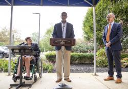 September 23, 2021: Senators Haywood and Tartaglione  Present $1 Million State Redevelopment Grant to MossRehab