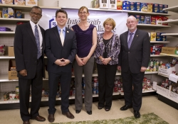 May 7, 2015: Leading a Raise the Wage Press Conference at Abington Inter-Faith Food Cupboard