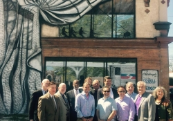 May 2, 2015: Attending a Ribbon-Cutting for Midgard Properties in Cheltenham